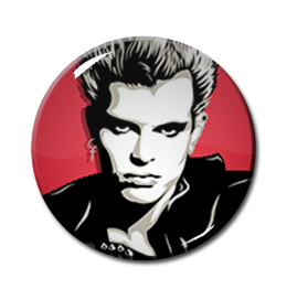 "Billy Idol - Pink 2.25"" Pin"