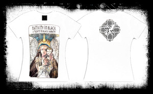 Black Sabbath Nativity in Black Tribute Band T-Shirt
