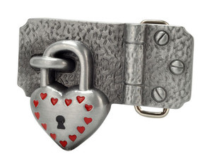 Lock and Key Belt Buckle