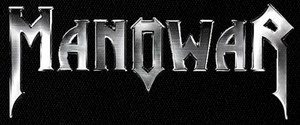 "Manowar - Steel Logo 5x3"" Printed Patch"