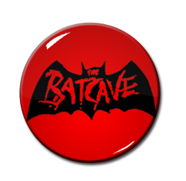 "Batcave - Red Logo 1"" Pin"