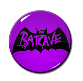 "Batcave - Purple Logo 1"" Pin"