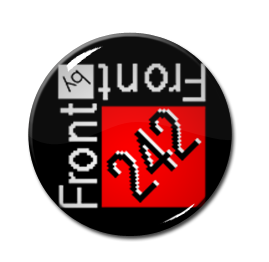 "Front 242 - Red squared logo 1"" Pin"
