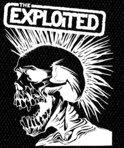 "Exploited - Skull 4x5"" Printed Patch"
