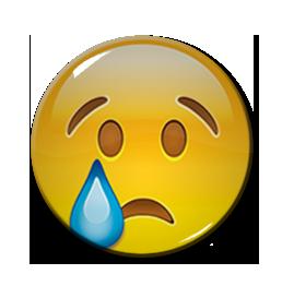 "Crying Emoji 1.5"" Pin"