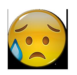 """Worried Emoji 1.5"""" Pin"""