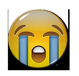 """Sob Emoji 1.5"""" Pin"""
