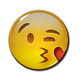 "Kissing Emoji 1.5"" Pin"