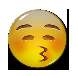 "Kissing Face Emoji 1.5"" Pin"