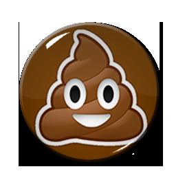 "Poop Emoji 1.5"" Pin"