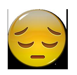 """Pensive Emoji 1.5"""" Pin"""