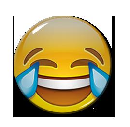 """Joy Emoji 1.5"""" Pin"""