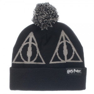 Harry Potter Deathly Hallows Pom Beanie