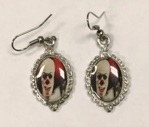 Pennywise the Clown Cameo Earrings