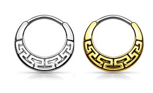 Maze Tribal Fan Septum Clicker