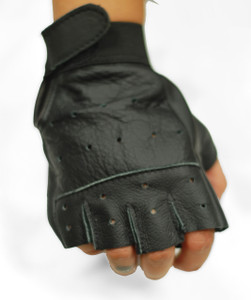 Solo Piel - Fingerless Biker Leather Gloves