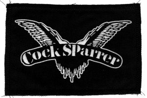 "Cock Sparrer - Logo 7x4"" Printed Patch"
