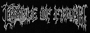 "Cradle of Filth - Logo 6x3"" Printed Patch"