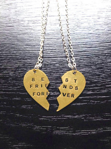 Set of Two Half-Heart BFF Necklace