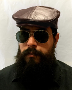 Leather Mens Beret