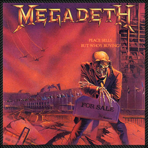 """Megadeth - Peace Sells, But Who's Buying? 8x8"""" Color Backpatch"""