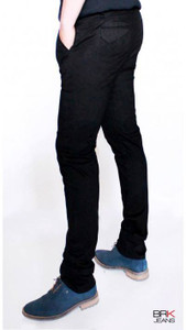 BRK Jeans - Chino Style Skinny Jeans in Black