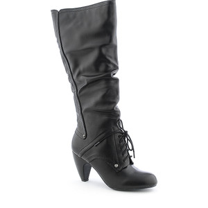 Soda® Shoes - Black Phil Knee-High Boot