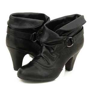 Soda® Shoes - Mayes Black High-Heeled Ankle Boot