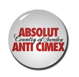 "Absolut Anti Cimex 1.5"" Pin"
