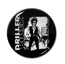"Driller Killer - What Goes Around Come Around 1.5"" Pin"