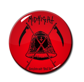 "Midnight - Farewell to Hell Red 1.5"" Pin"