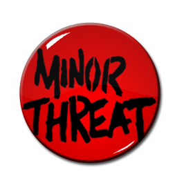 "Minor Threat 1.5"" Pin"