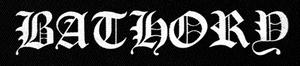 "Bathory - Logo 10x3"" Printed Patch"