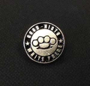 """Good Night White Pride Logo 3/4"""" Metal Badge Pin"""