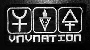 "VNV Nation - Chrome Symbols 5""x2.5"""" Embroidered Patch"