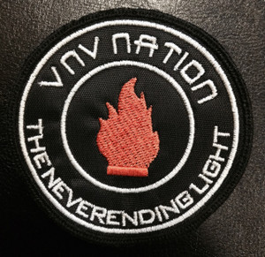 "VNV Nation - The Never Ending Light 3x3"" Embroidered Patch"