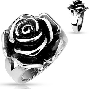 Single Rose Cast Band Ring