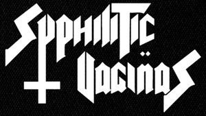 "Syphilitic Vaginas - Logo 6x4"" Printed Patch"