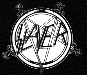 "Slayer - Sword Pentagram 5x5"" Printed Patch"