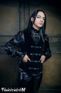 Dr. Frankenstein - Black Velvet Baroque Victorian Vest