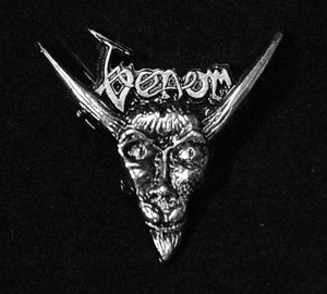 "Venom - 3D Goat Logo 2"" Metal Badge Pin"
