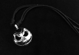 Jack Skelington Metal Chain Pendant