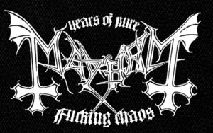 "Mayhem - Fucking Chaos 7x5"" Printed Patch"