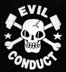 "Evil Conduct - Skull 4x5"" Printed Patch"