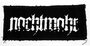 "Nachtmahr - Logo 6x3"" Printed Patch"