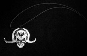 Horned Skull Metal Chain Pendant