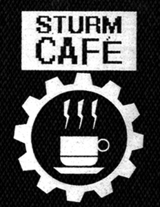 "Sturm Cafe - Logo 4x6"" Printed Patch"