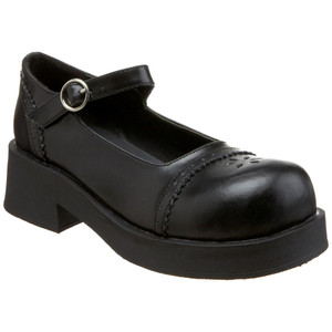 "Women's 2"" Round Toe Mary Jane Shoe by Demonia"