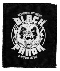 "Black Panda - Panda 5x4"" Printed Patch"