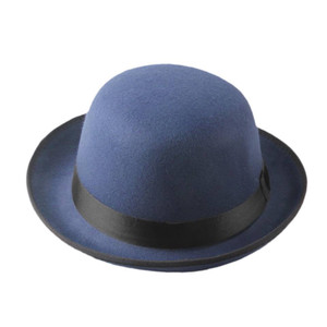 Unisex Felt Bowler Hat in Blue